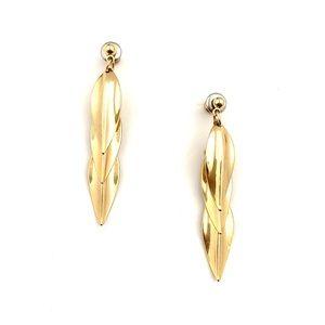 Jewelry - Vintage Cascading Leaf Earrings Gold Tone Dangle